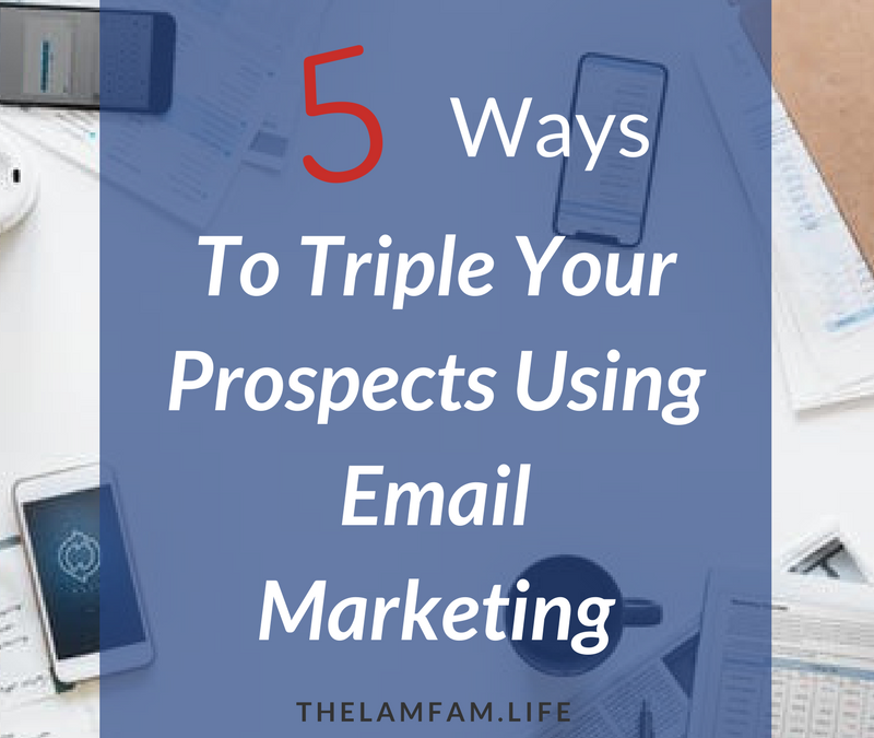 5 Ways to Triple Your Prospects Using Email Marketing